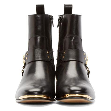 versace men s black medusa harness boots aafashioner