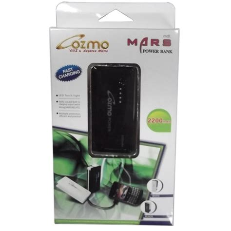 Power Bank Cozmo jual cozmo powerbank 2200 mah black murah bhinneka