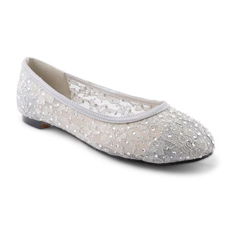new womens flat ballet loafer shoes bridal wedding