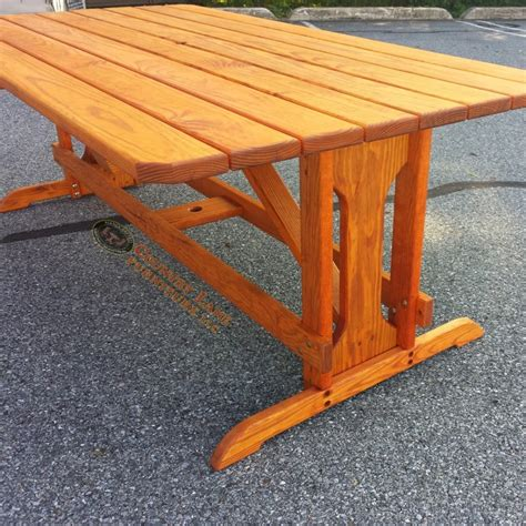 custom picnic tables custom picnic table with pedestal and benches custom