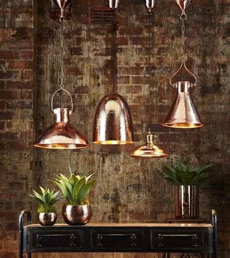 home lighting trends 2017 dolce beaten copper hanging l ceiling lamps emac