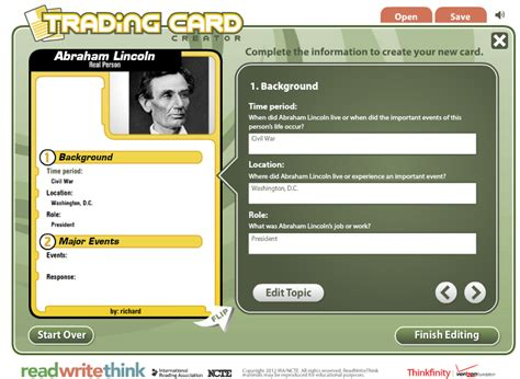history trading cards template free technology for teachers tuesday november 27 2012