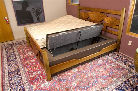 bed bunker mattress gun safe and storage stashvault