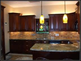 kitchen ideas cherry cabinets kitchen tile backsplash ideas with cherry cabinets