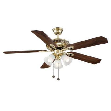 hton bay glendale ceiling fan hton bay glendale 52 in flemish brass ceiling fan