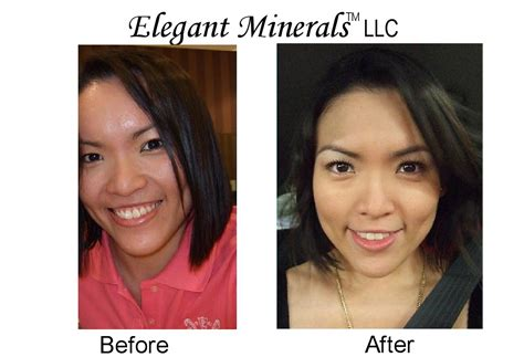 joelle before and after mineral natural makeup images