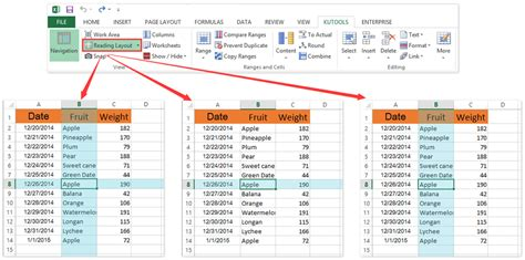 reading layout excel 2013 how to highlight the last row cell in excel