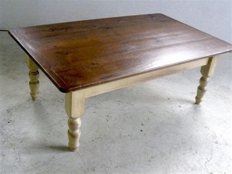 Wood Coffee Table With Multi Color Finish Farmhouse Style Farmhouse Style Coffee Table