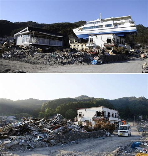 boat on building japan tsunami japan tsunami and earthquake pictures of recovery 3