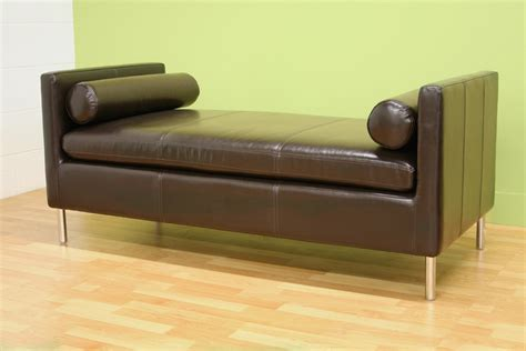 couch with no back chrissie dark brown bench modern contemporary ebay
