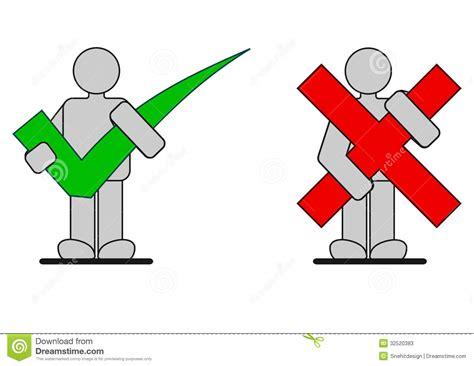 cama vs cama ejecutivo iconos correctos e incorrectos stock de ilustraci 243 n