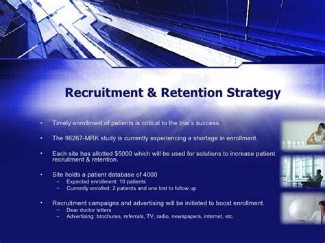 Recruitment Retention Plan A Sle Strategy Presentation Patient Recruitment Plan Template