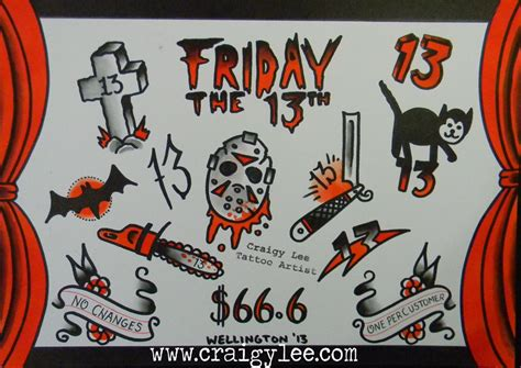 friday the 13th tattoos special craigy tattoos