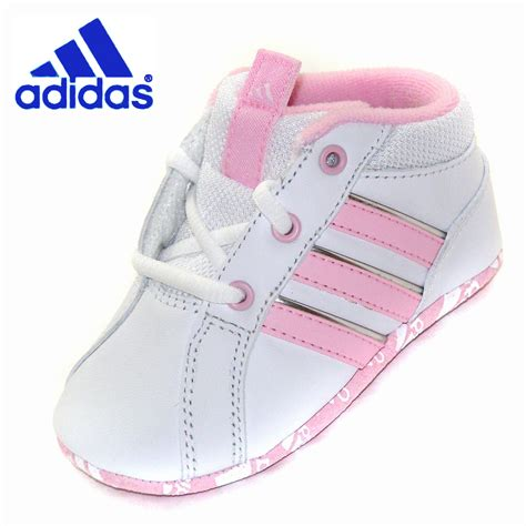 baby adidas crib shoes white pink leather ebay
