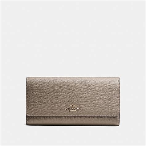 Coach Wallet For By Bagladies coach designer wallets trifold wallet in crossgrain leather