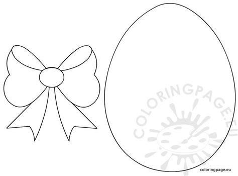 easter egg  bow template coloring page