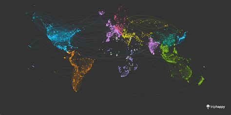 beautify worldwide see this beautiful world map created from traveller s journeys