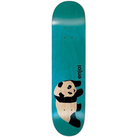 skat deck enjoi original panda clear 7 75 skateboard deck evo