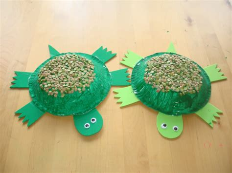 Paper Turtle Craft - play and learn with paper bowl turtle