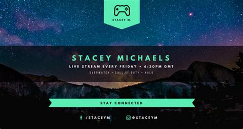 Customize 1 142 Twitch Banner Templates Online Canva Twitch Banner Template