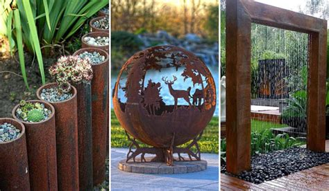 Low Budget Home Interior Design by 20 Amazing Diy Ideas For Outdoor Rusted Metal Projects
