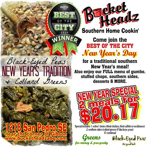 new year s day meal taste of southern taste of southern new years day meal deal at headz southern home