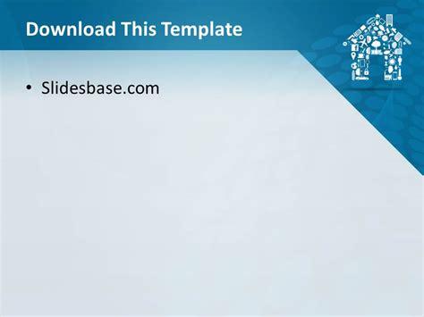 housing finance powerpoint template house shape powerpoint template slidesbase