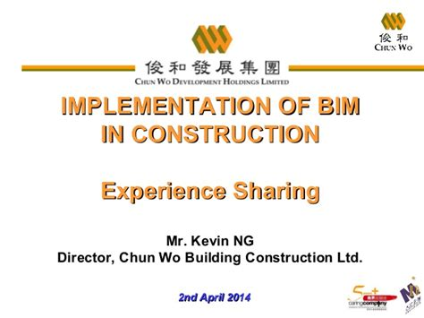 implementation of bim in construction experience by m