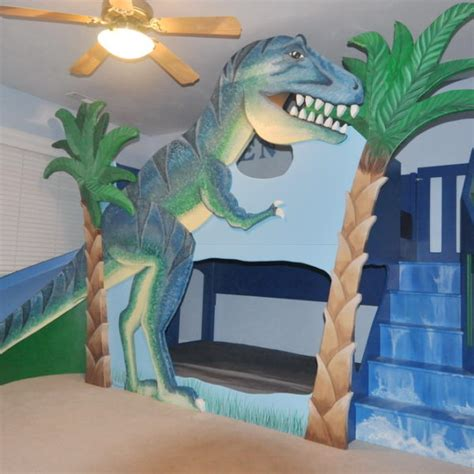 dinosaur bed t rex dinosaur bunk bed loft bed indoor playhouse