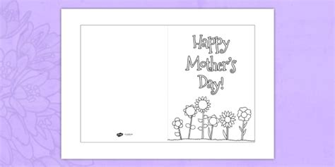 mothers day cards free templates s day card template colouring design s day