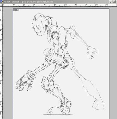 lineart coloring tutorial in photoshop colouring a robot in photoshop tutorial by troy packer
