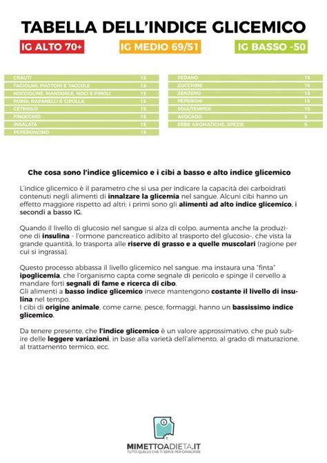 alimenti ad alto indice glicemico indice glicemico cos 232 e come abbassarlo