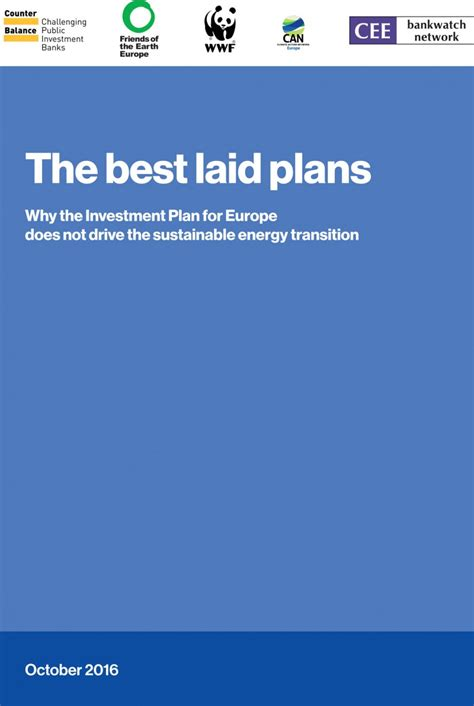 The Best Laid Plans by The Best Laid Plans Why The Investment Plan For Europe