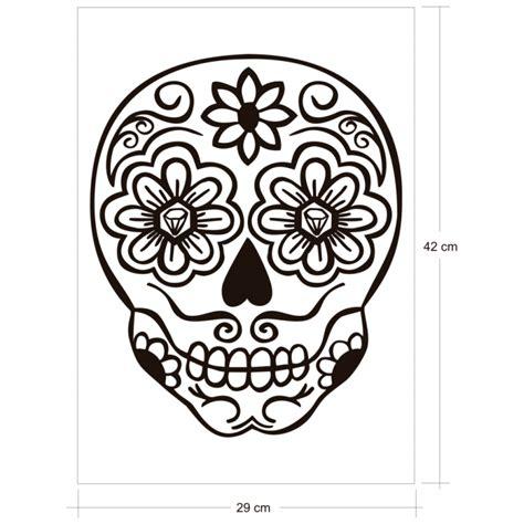 imagenes para dibujar una calavera calavera mexicana vinilos decorativos