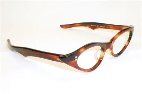 Cat Eye Glasses 2 vintage cat eye glasses swank satin with cut design