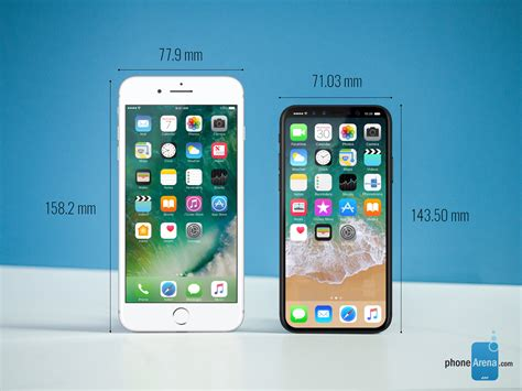 iPhone 8 dimensions and size comparison vs iPhone 7