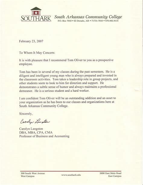 sample of work recommendation letter abcom