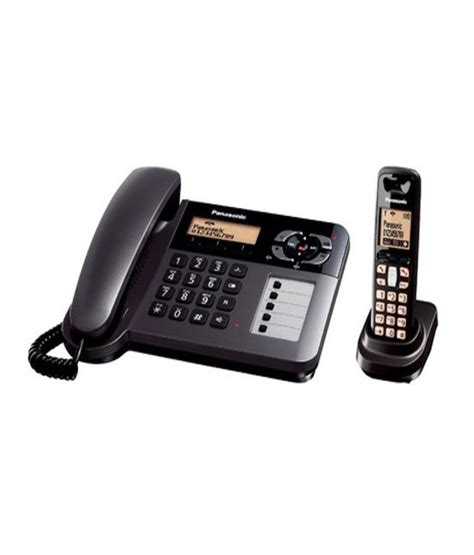 Panasonic Corded Phone Kx Ts820nd buy panasonic kx tg 6458 corded and cordless combo landline phone at best price in india