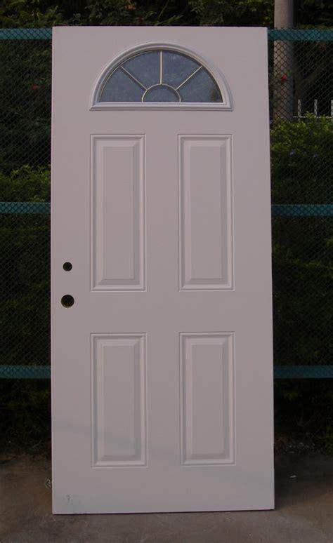 Door Window Panel by Fan Lite 4 Panel Door Glass Steel Door