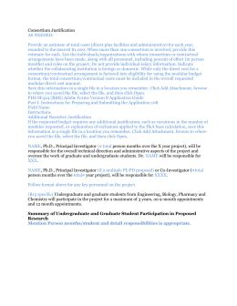 Sample Budget Justification Nih Consortium Agreement Template