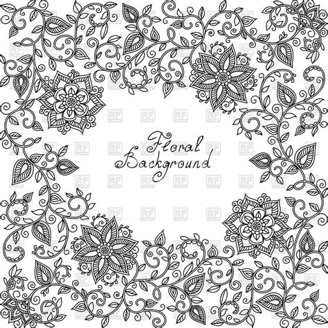 white pattern floral black and white floral pattern of spirals and swirls