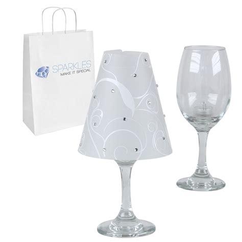 Wine Glass L Shades Ebay by Wine Glass L Shades W Rhinestones Led Tea Lights Kit
