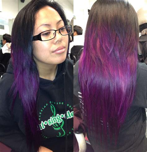 black n purple hair the luscious curlbombs purple and n rage streaks n color newhairstylesformen2014 com