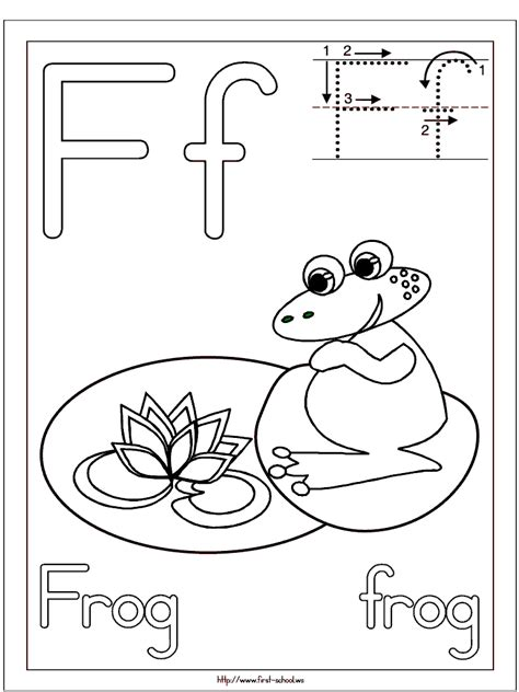F Frog Coloring Page by Frog Coloring Page For F Week Letter F Activities