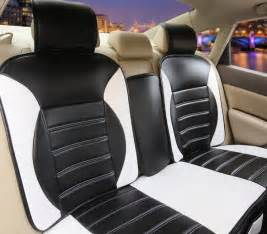 black and white car seat leather 2017