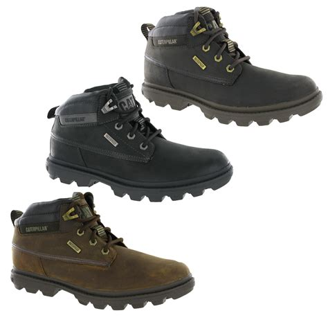 mens walking boots uk new mens caterpillar cat grady black brown waterproof