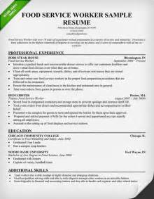 Food Service Objective Resume by Food Service Worker Resume Sle Use This Food Service Industry Resume Sle As A Template