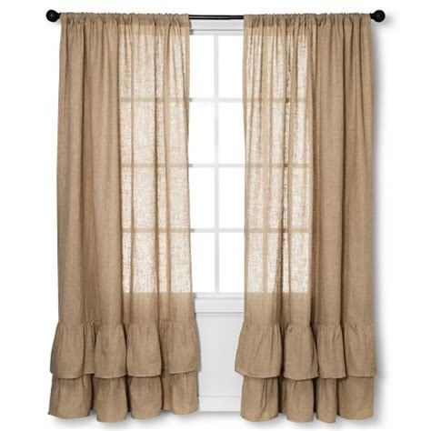 target burlap curtains curtain panels homethreads natura solid target