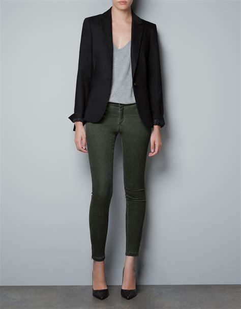 Blazer Zara Zara Basic Blazer In Black Lyst