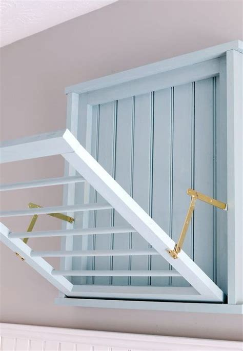 diy wall mounted drying rack  plans drying rack laundry laundry room design laundry